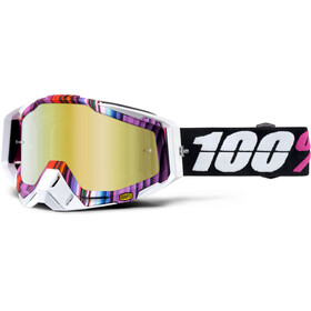 100% Racecraft Anti Fog Mirror goggles, glitch